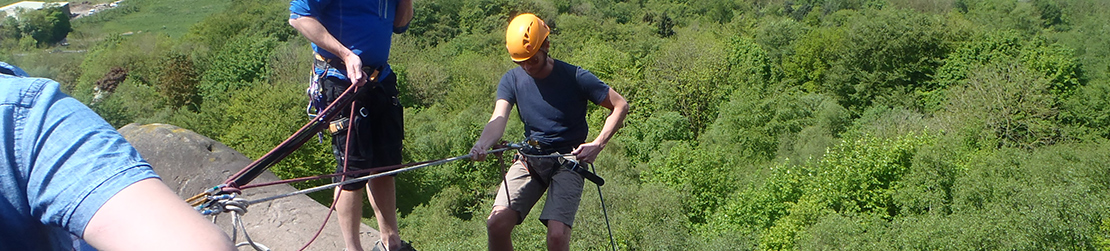 abseiling at black rocks